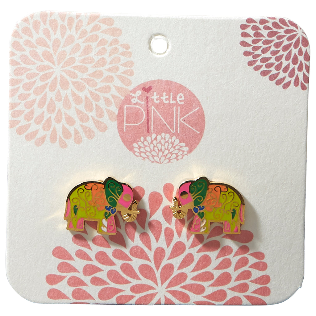 Little Pink Earrings - Elephant