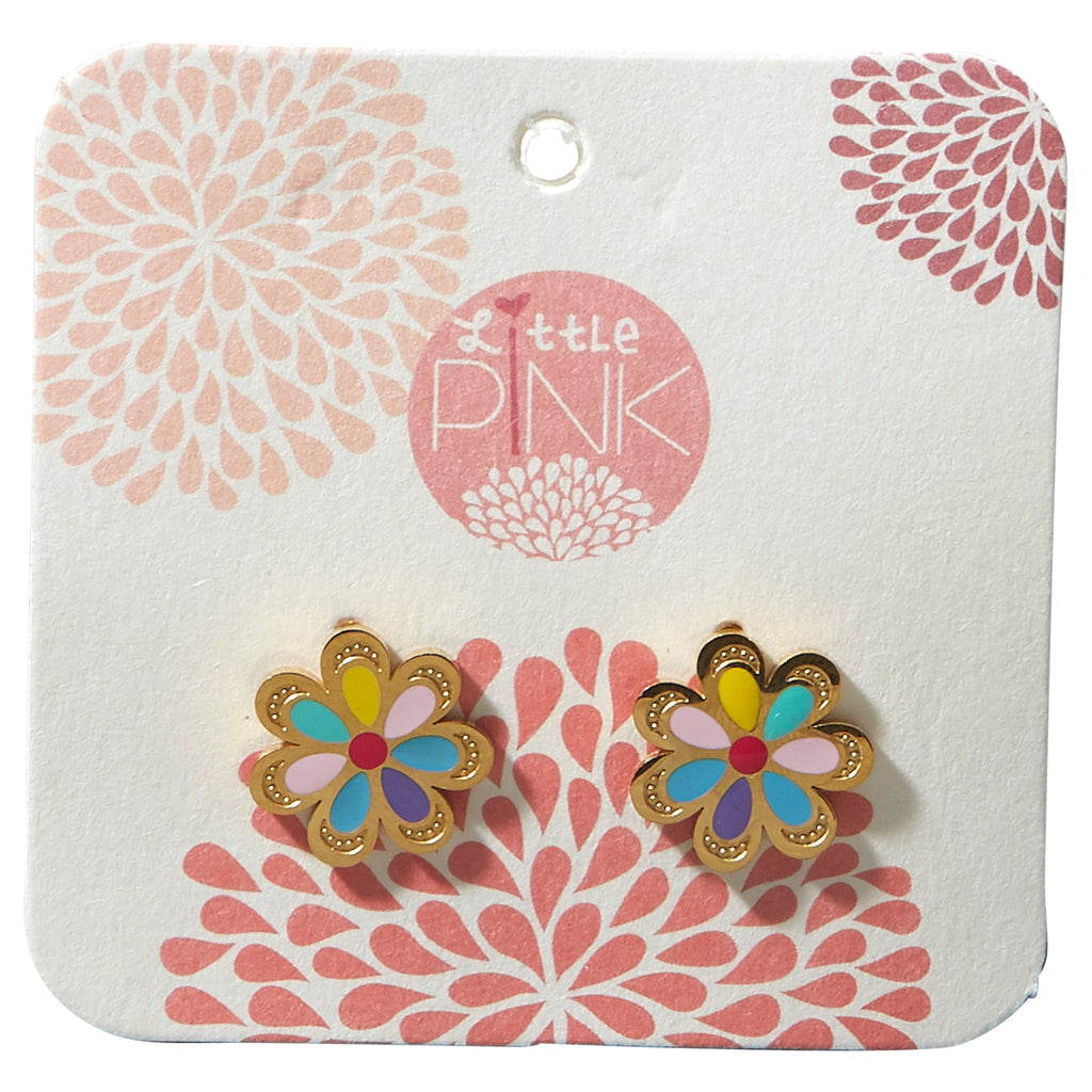 Little Pink Earrings - Flower