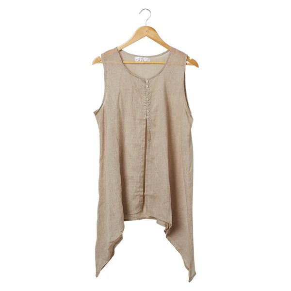 Wholesale Scarves - Emony Sleeveless Tunic - Sand - Tickled Pink