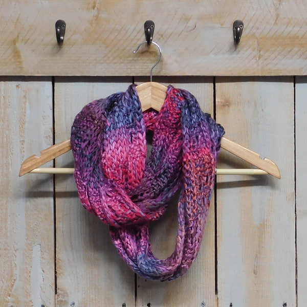 Luxurious Multicolored Knit Infinity - Multipink