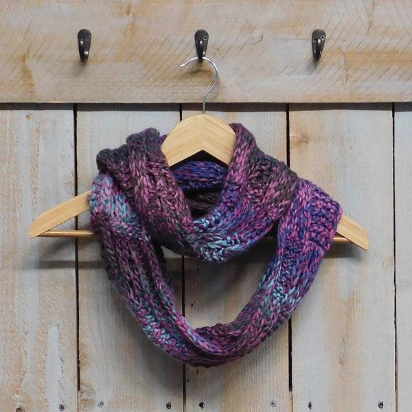 Luxurious Multicolored Knit Infinity - Purple