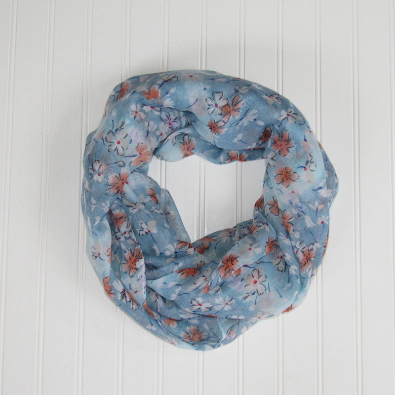 Floral Breeze Infinity - Blue