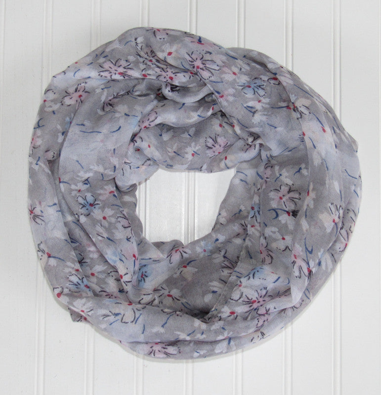 Floral Breeze Infinity - Gray