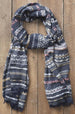 Ridge Stripe Dobby Scarf - Gray