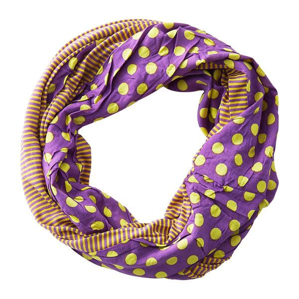 Dots & Stripes Infinity - Purple Gold