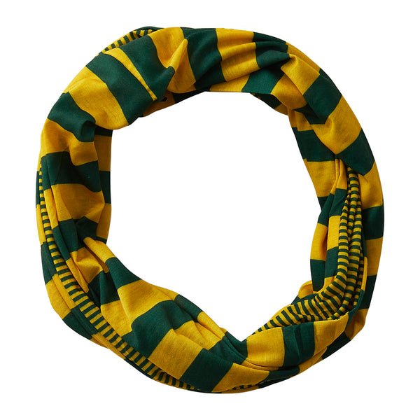Gameday Stripes Infinity - Green/Gold