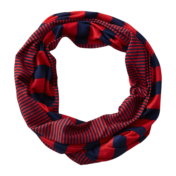 Gameday Stripes Infinity - Navy/Red