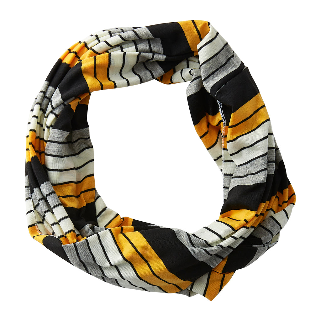 Gray Striped Infinity - Black Gold