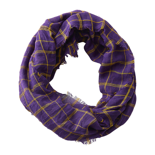 Lightweight Plaid Infinity - Purple Gold