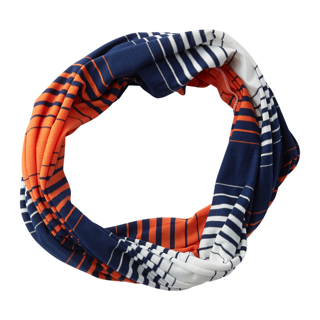 Striped T-Shirt Infinity - Navy Orange