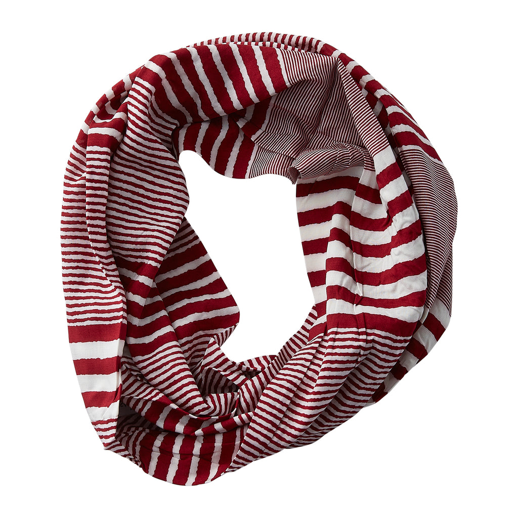 Varied Stripes Infinity - Crimson
