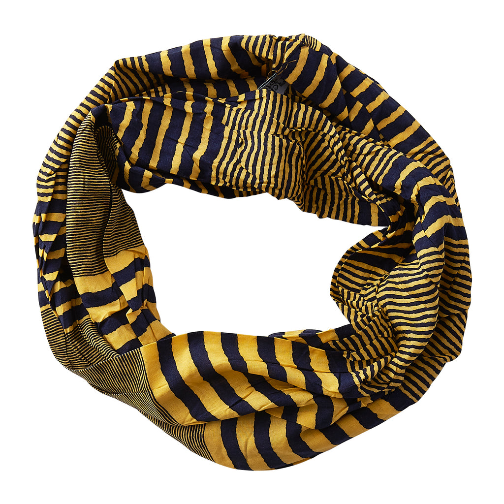 Varied Stripes Infinity -NavyGold