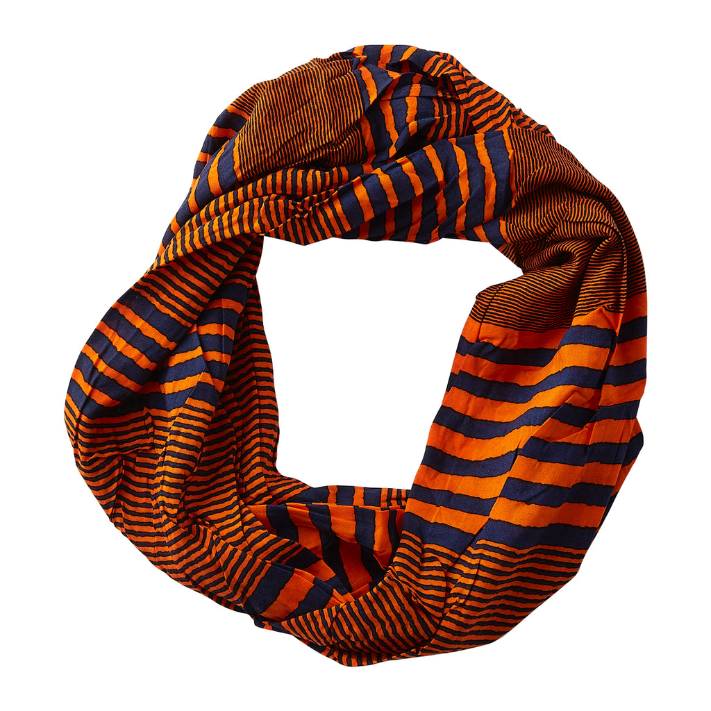 Varied Stripes Infinity -NavyOrange
