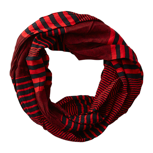 Varied Stripes Infinity - RedBlack