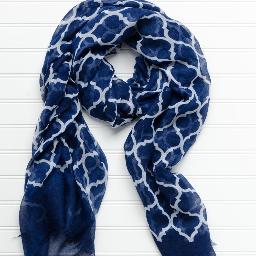 Vibrant Royal Scarf - Navy