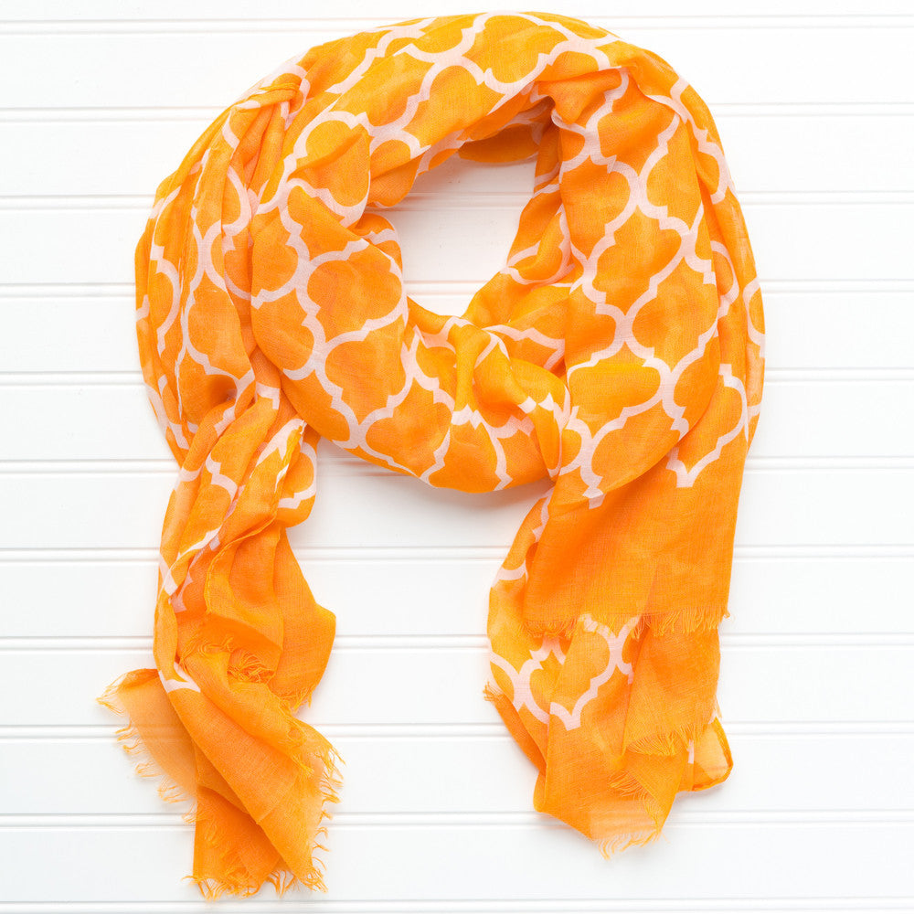 Vibrant Royal Scarf - Orange