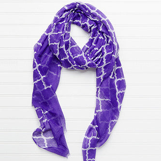 Vibrant Royal Scarf - Purple