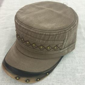 Classic Hat with Metal Detail - Military