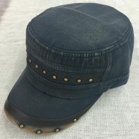 Classic Hat with Metal Detail - Navy