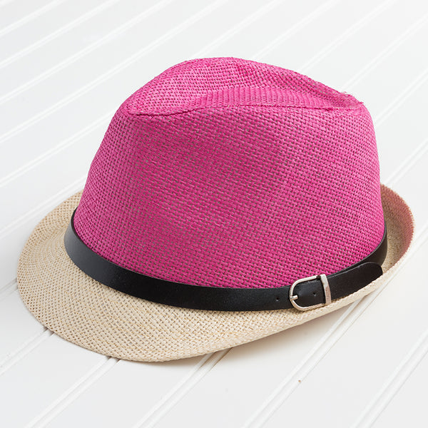 Vibrant Colors Fedora - Dark Pink