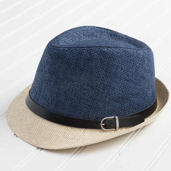Vibrant Colors Fedora - Navy