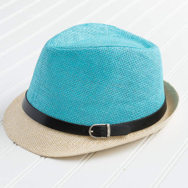 Vibrant Colors Fedora - Turquoise