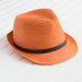 Crocheted Fedora - Orange