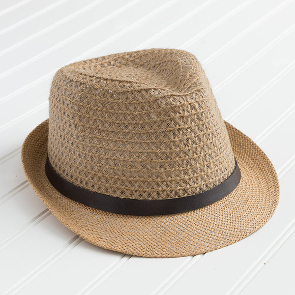 Crocheted Fedora - Straw