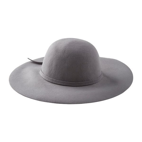 Floppy Wide Brim Wool Hat - Gray