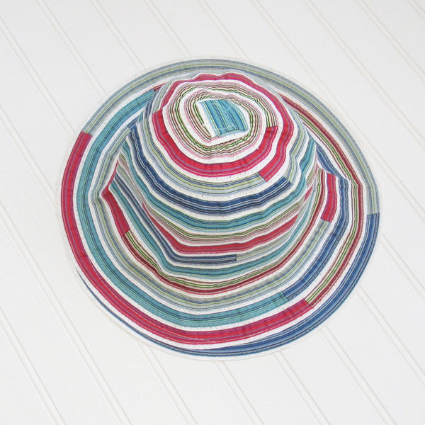 Cheerful Multicolored Garden Hat - Blue