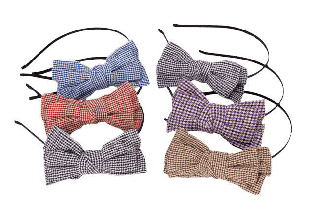 Gingham Plaid Large Bows - Headbands