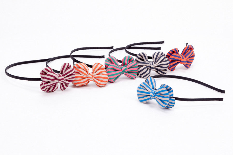 Striped Rounded Bows - Headbands
