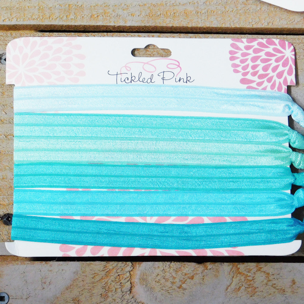 Stretch Headbands - Shimmering Solids - Seafoam, Aqua, Turquoise