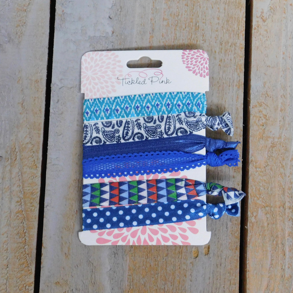 Stretch Hair Ties - All Things Blue