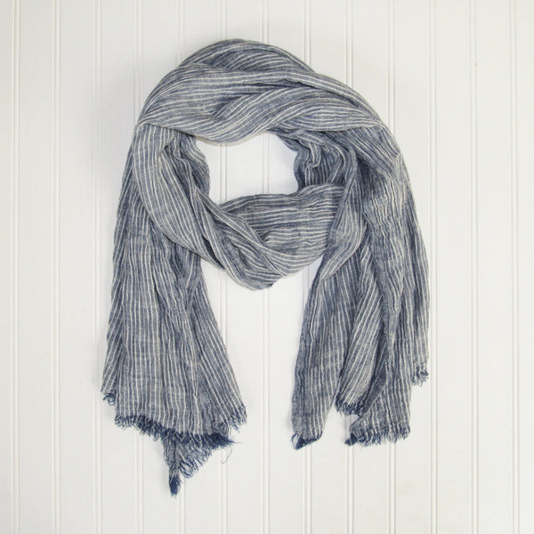 Jasper Stripes Scarf - Blue