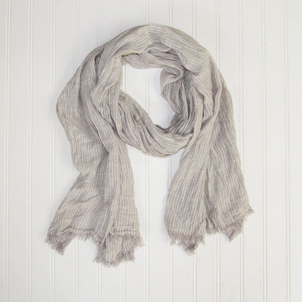 Jasper Stripes Scarf - Gray