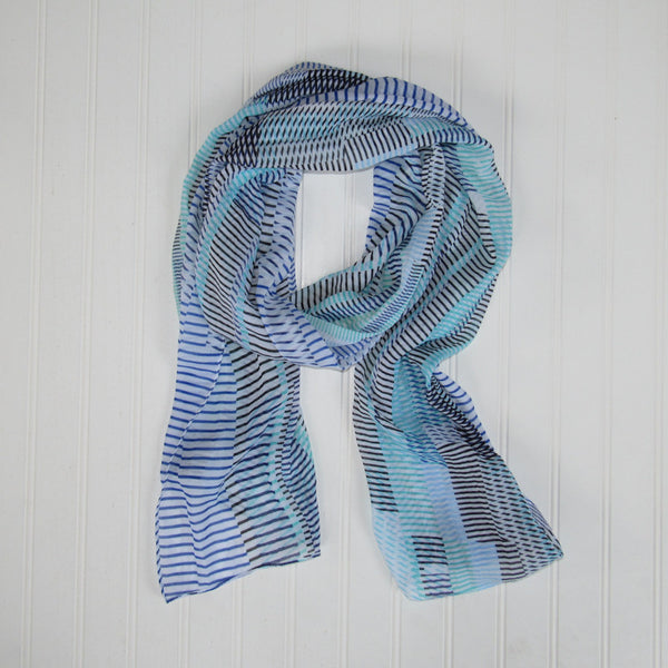 Kessie Stripes Scarf - Blue