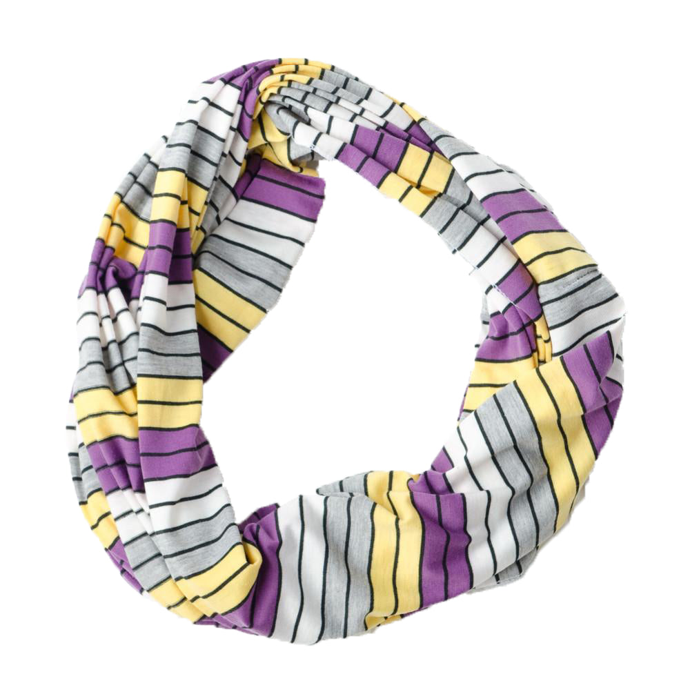 Gray Striped Infinity - Purple Gold