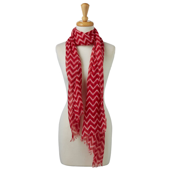 Double Stripe Chevron Scarf