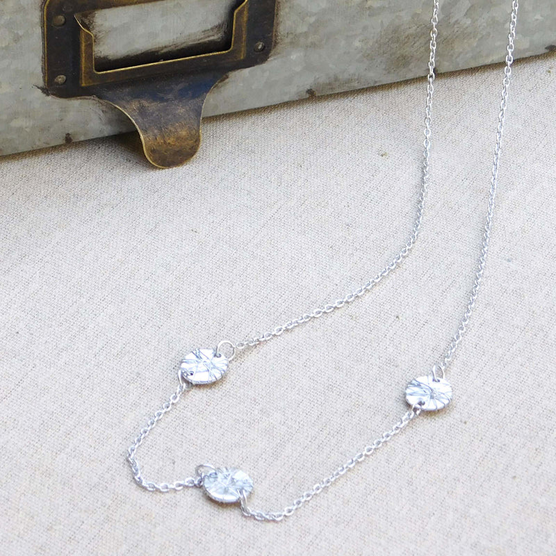 Elegant Threads Chain Necklace - Silver