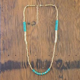 Thickly Beaded Necklace - Green