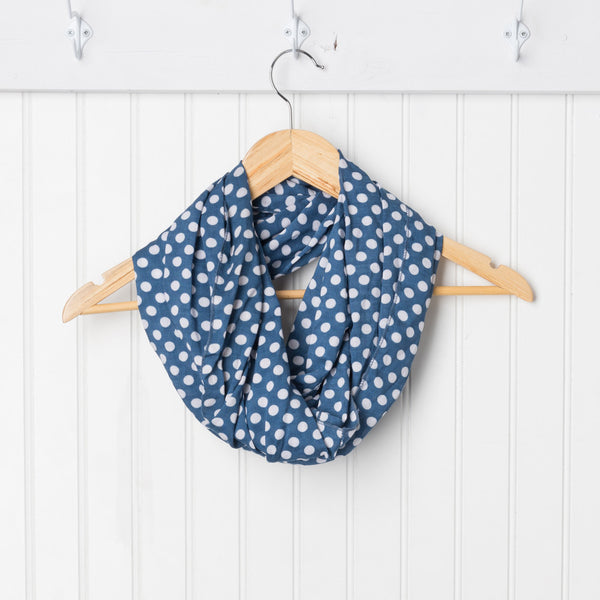Cheerful Polkadot Infinity - Blue