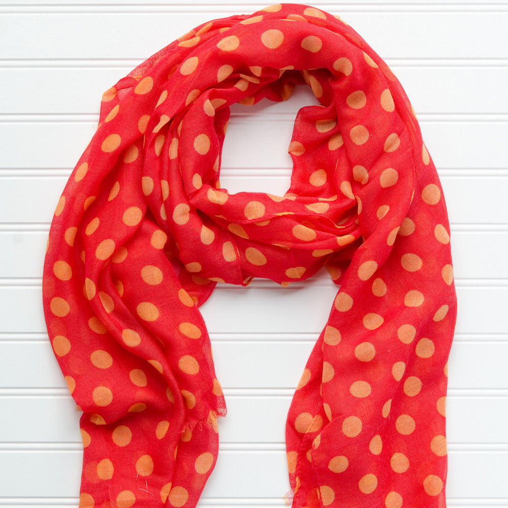 Large Traditional Polkadots-Crimson Gold