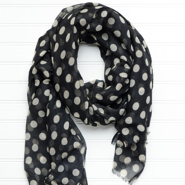 Large Traditional Polkadots-Black-Old Gold