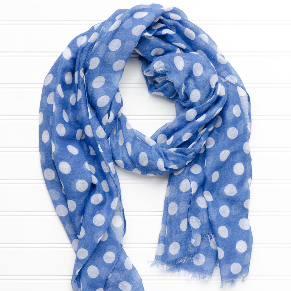 Large Traditional Polkadots-Royal Blue