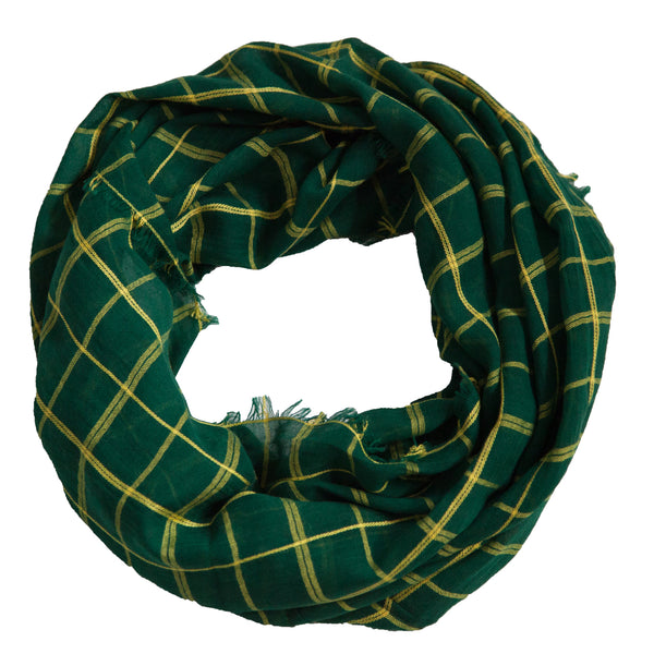 Lightweight Plaid Infinity - Green Gold