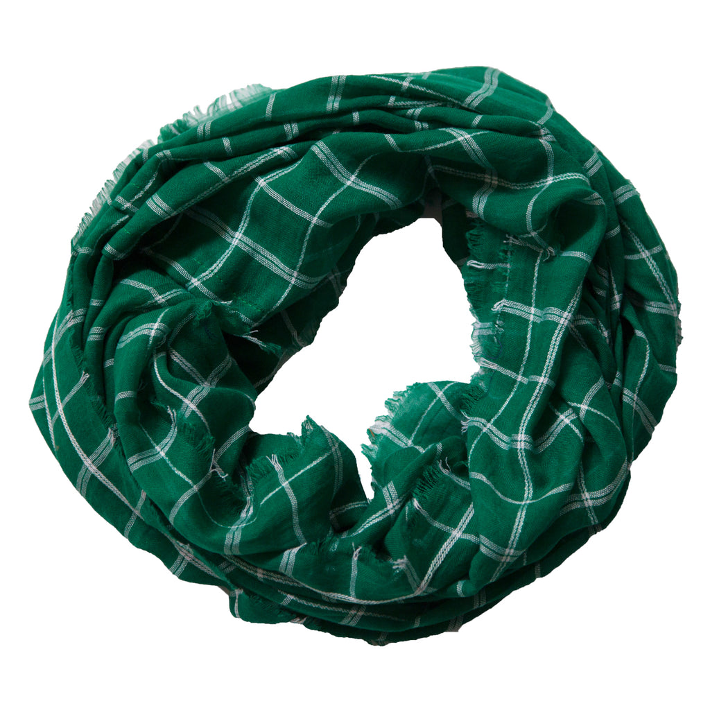 Lightweight Plaid Infinity - Green White