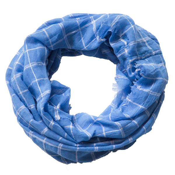 Lightweight Plaid Infinity - Light Blue