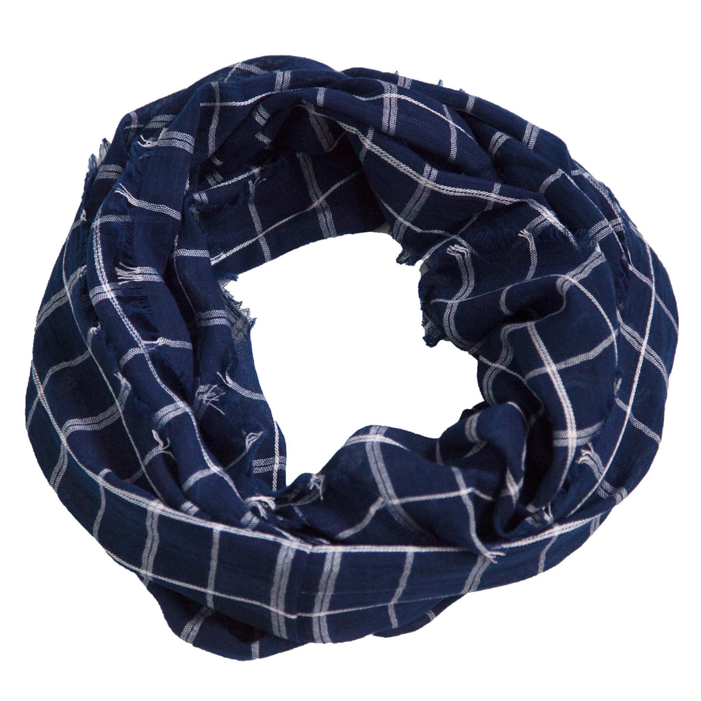 Lightweight Plaid Infinity - Navy