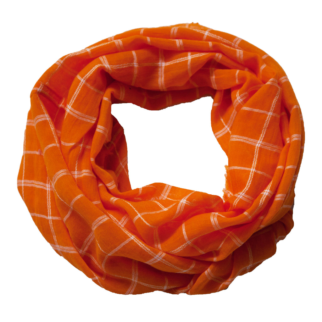 Lightweight Plaid Infinity - Orange